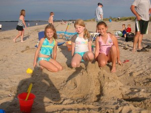 One of the first castles built since Irene left the beach